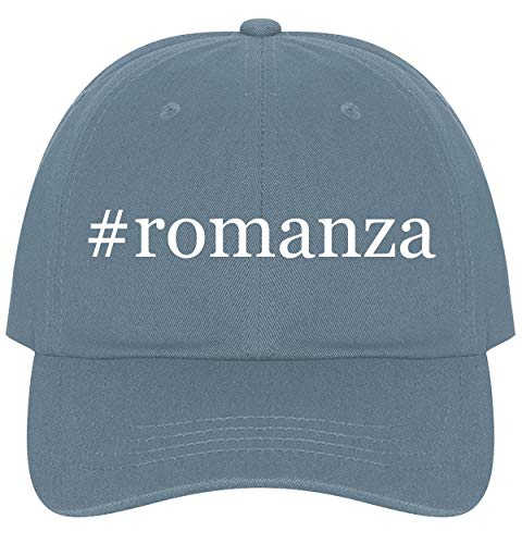 The Town Butler #Romanza - A Nice Comfortable Adjustable Hashtag Dad Hat Cap, Light Blue