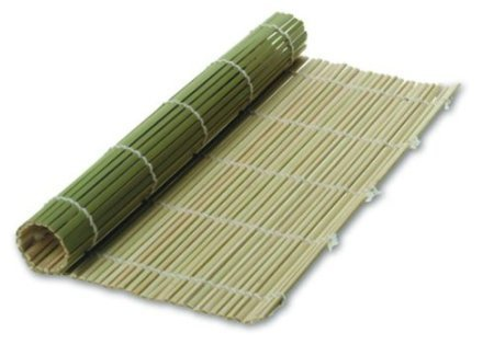 JapanBargain S-3155, Green Bamboo Sushi Roller Mat 9-1/2-inch Square