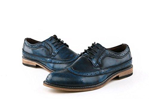 Minitoo ,  Herren T-Spangen Sandalen mit Keilabsatz , Blau - Blu (blu) - Größe: 40