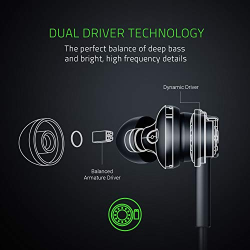 Razer Hammerhead Duo - Stereo headset, durable aluminum frame, frustration-free braided cables with convenient in-line microphone,RZ12-02790200-R3M1