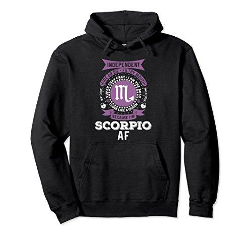 Unisex Scorpio Woman Zodiac T Shirts: Scorpio Woman AF Hoodie Large Black