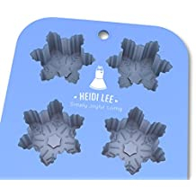 Silicone Snowflake Mold: Non-Stick Baking, Chocolate, Ice, Muffins & Soap⎟Oven-Microwave-Freezer-Dishwasher Safe⎟6 Cavity Mold⎟Ships from USA