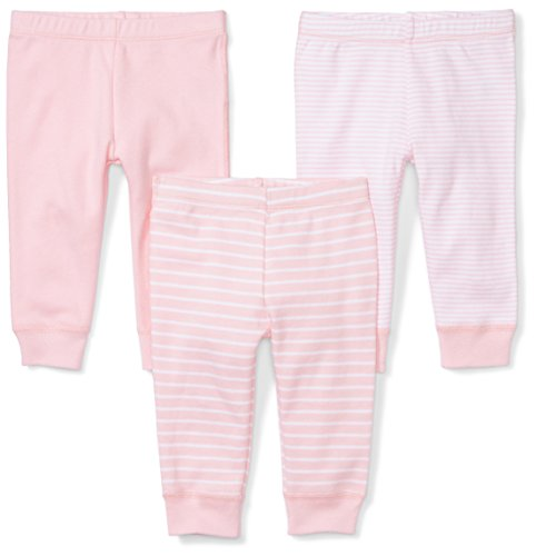 (Moon and Back Baby Set of 3 Organic Pants, Pink Blush, 24 Months)