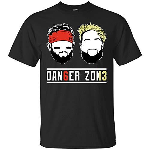 Baker-Mayfield Odell-Beckham Jr Tshirt Danger Zone T Shirt Sweatshirt Hoodie Browns OBJ Cleveland Tshirt (Unisex T-Shirt;Black;XL)