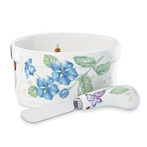 Lenox Butterfly Meadow Dip Bowl and Spreader, 2 piece - Chip Butterfly Meadow