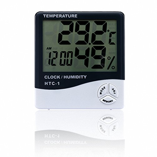 OMEM Reptile Accurately Measures Thermometer Hygrometer LCD Display Temperature and Humidity Data Logger by OMEM
