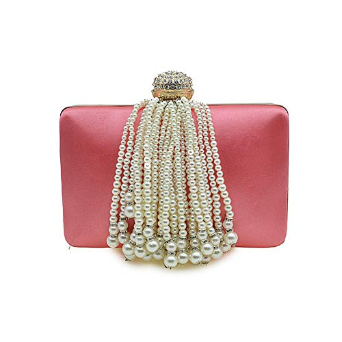 De À Gold Perles color Et Mariage Main Pink Pampilles Cijfay Sac nfwYqa7P