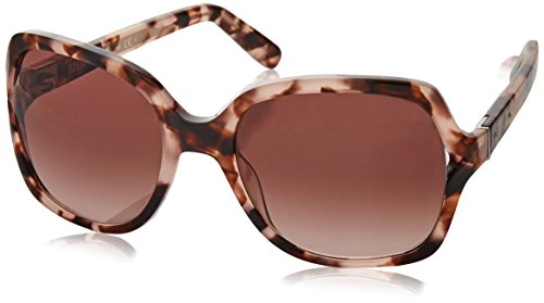 Bobbi Brown Women's The Harper/S Square Sunglasses, Havana Rose/Brown Rose, 55 - Bobbi Brown Sunglasses