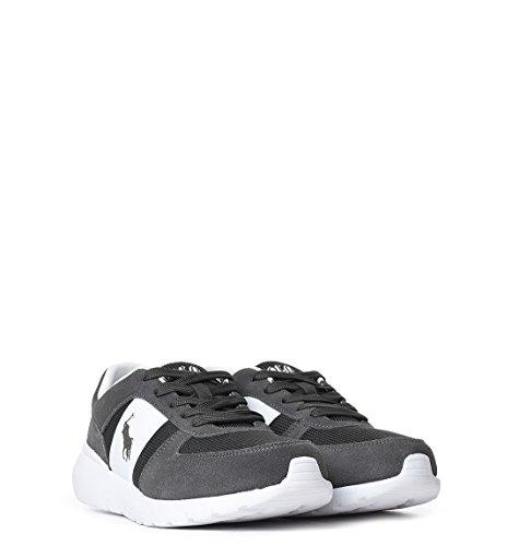 Ralph Lauren Sneakers Uomo XZ4Z2XY4Z2XW4QT Camoscio Bianco/Nero
