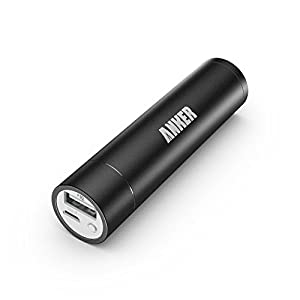 Anker 2nd Gen Astro Mini 3200mAh Lipstick-Sized Portable External Battery Charger with PowerIQ Technology for iPhone, Samsung, HTC and More (Gold)