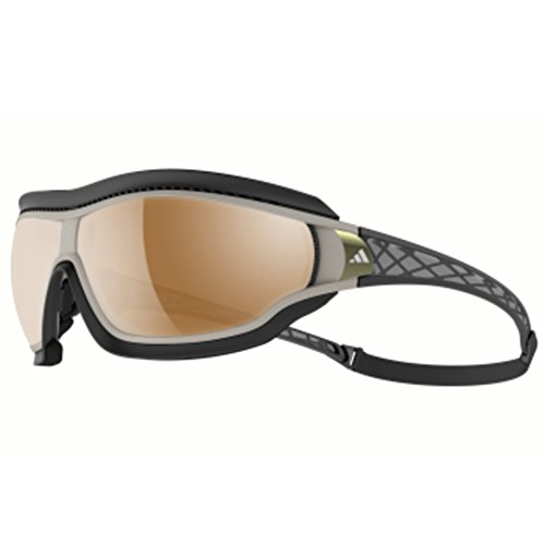 - adidas Tycane Pro Outdoor L A196 6054 Rectangular Sunglasses, Grey Matte & Grey, 82 mm