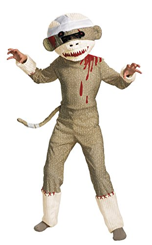 [UHC Boy's Zombie Sock Monkey Animal Theme Fancy Dress Child Halloween Costume, M (7-8)] (Ultimate Party Animal Halloween Costume)