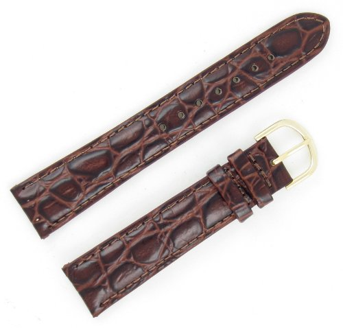 Grain Brown Croco (18-mm Brown Classic Croco Grain Genuine Leather Watch Band)