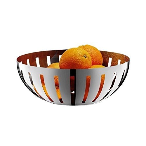 ZACK 30712 Vitor Glossy Fruit Bowl, 4.33 by 11.81-Inch