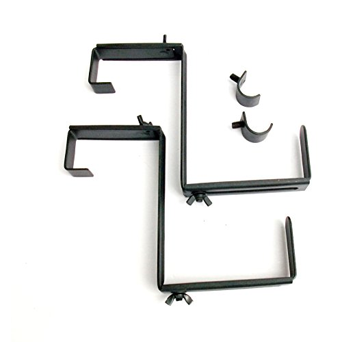 2-Pack 6.75-in Steel Window Box Brackets
