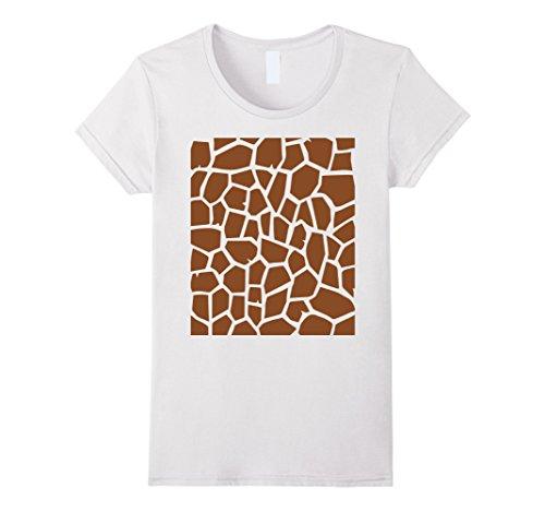 Womens Giraffe Print - Easy Halloween Costume Idea - Tee Shirt XL White