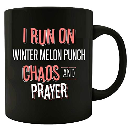 (I Run On WINTER MELON PUNCH Chaos and Prayer - Funny Christian Gift for Men Women - Mug)