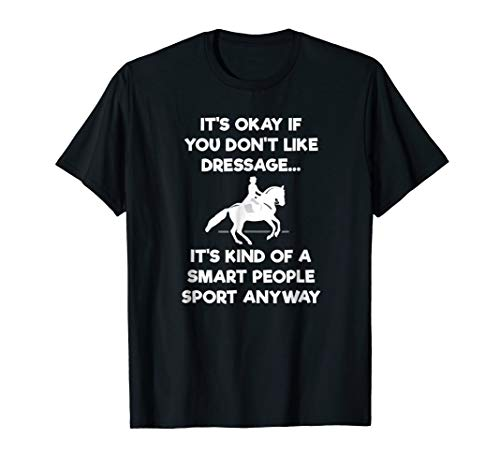 Dressage Horse T-Shirt Gift - Funny Smart Sport - Horse Classic Saddle Pads