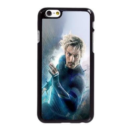 M0R10 Avengers Age Of Ultron Aaron Taylor Johnson Quicksilver K8Q9BM coque iPhone 6 4.7 pouces cas de couverture de téléphone portable coque noire KJ8XUL3CR