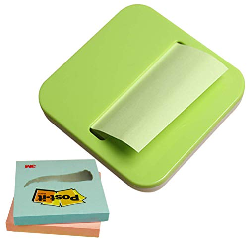 Zmmyr 3M Removable Sticky Note Tape Flag Dispensers Creative Office Supplies Note Box with 2 Sticky Note Paper (Green)