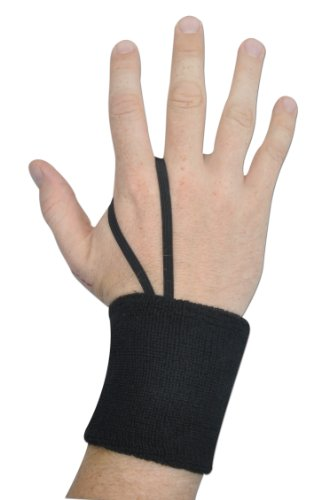 Champro Wrist Sweatband or Down Indicator (Black, 3-Inch)