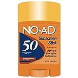 No-Ad Spf#50 Sport Body + Face Sunscreen Stick 1.5 Ounce (44ml)