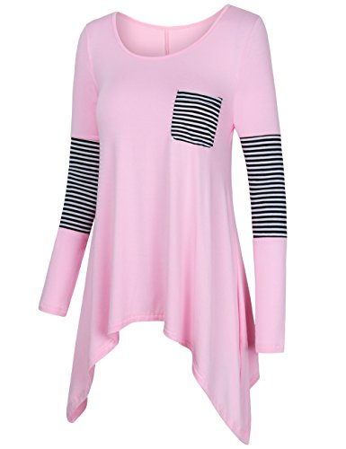 Trapeze Costumes Women (Tunic Tops for Leggings for Women,UXELY 2017 Fall Clothes Bohemian Maternity Tops Trapeze Tunic Dress XX-Large Light Pink)