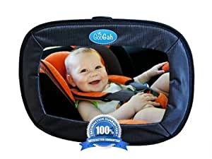 Infant Car Mirror With eBook Large Black, For The Car Mom And Baby by Googah