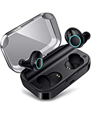 meilun True Wireless Earbuds, Bluetooth Earphones X11 Bluetooth 5.0 Headphones IPX7 Waterproof Built-in Mic with 3500mAh Charging Case for 1 Week Extended Playtime.