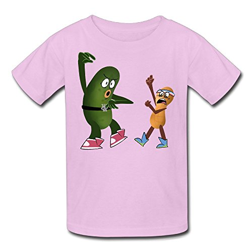 Youth Teen 100% Cotton Animated Pickle And Peanut Anime Cartoon Short Tee (The Peanut Pickle compare prices)