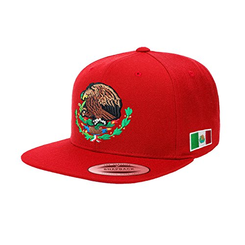 Yupoong Mexico Snapback hats (Red/Original)