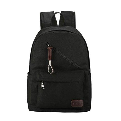28 Backpack nero Nero 13 Canvas Canvas Casual Wang Fashion Casual 42cm misura colore ZxqfTw6