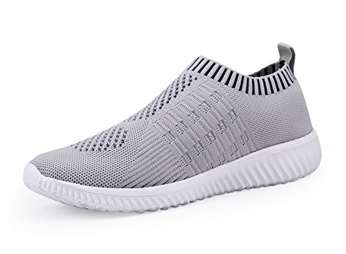 DMGYDAF Women's Lightweight Walking Athletic Shoes Breathable Mesh Sneakers Casual Running Shoes Gray 39 by DMGYDAF (Image #1)