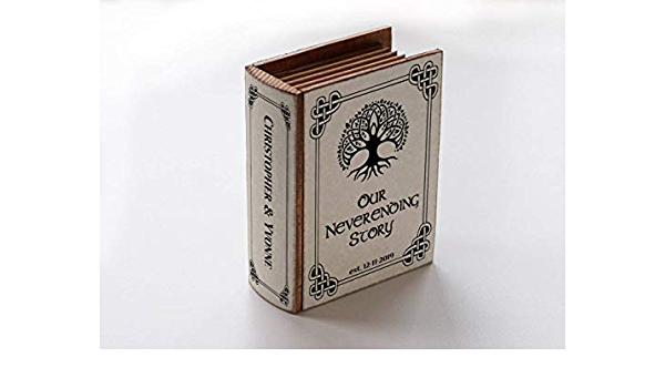 Ring box Gold wedding ring box Celtic Ring bearer box Infinity Heart Wedding box Personalized ring box Book box Engagement ring box Proposal