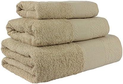 Confort Home M.T (Camel) Juego de Toallas de baño 3 Piezas ...