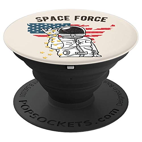 Vintage Space Force Bae Astronaut Spaceship Apollo Stars PopSockets Grip and Stand for Phones and Tablets