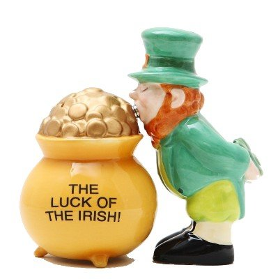 Luck of The Irish Pot of Gold Magnetic Salt & Pepper Shakers ()