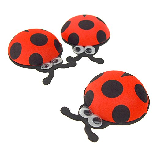 Homeford Foam Ladybug Favors with Googly Eyes, Red, 2-3/4-Inch, 10 Count ()