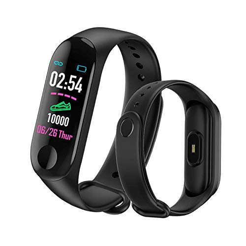 Mateyou Fitness Tracker Watch with Activity Tracker/Sleep Heart Rate Monitor/Step Distance/Calories Count, Pedometer Watch for Kids Men Women, Waterproof Color Screen (Black)