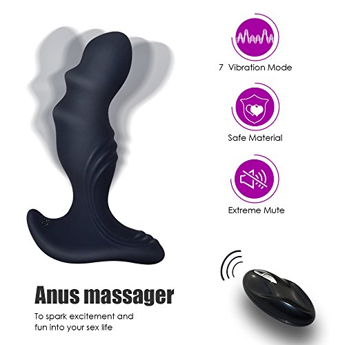 Male Vibrating Anal Prostate Massager Dildo Vibrator Anal Plug Butt Plug Sex Toys P-Spot G-Spot Vibrator with 7 Powerful Vibration Rechargeable & Waterproof Anal Sex Toy for Men Women Gay by Lusocc