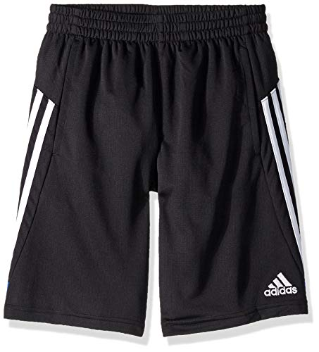 Adidas Boys' Big Athletic Basketball Short, Krft Black/Blue, Medium ()