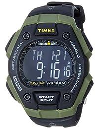 Timex Ironman Classic 30 Reloj de tamaño completo, Black/Green/Negative