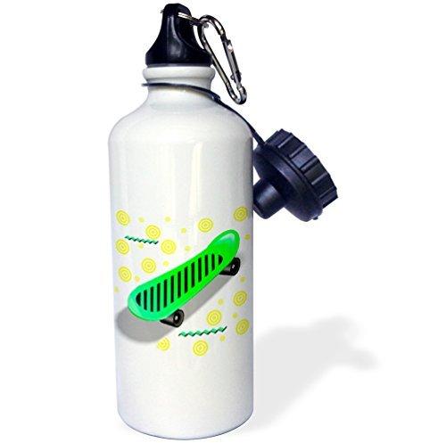wenyige8216Skateboard Deportes botella de agua, rojo, color blanco