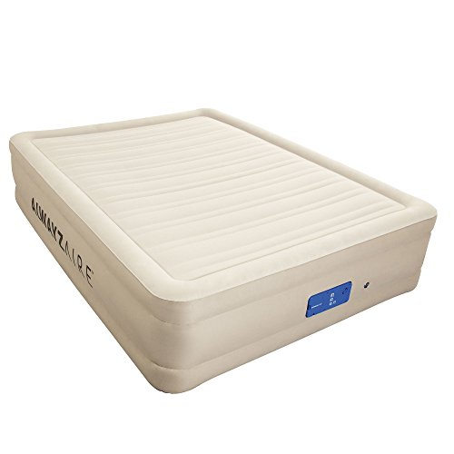 Queen Size Air Flow Airbed w/ Built-In Alwayzaire Pump & 3 P