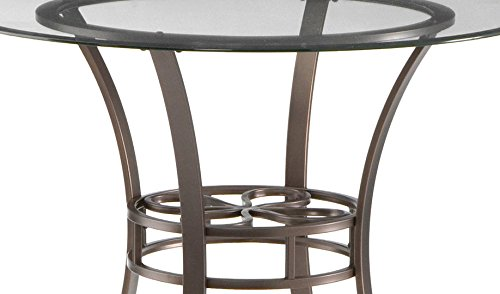 Southern Enterprises Lucianna Glass Top Dining Table, Dark Brown Finish by Southern Enterprises (Image #7)