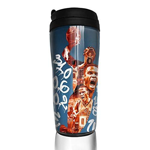 DLAZANA Thunder Fans Westbrook Zero Jersey Vaso de Viaje Taza de café 12oz
