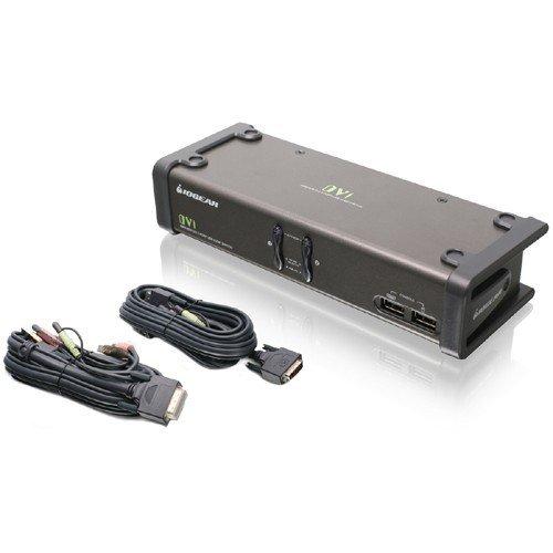IOGEAR 2-Port DVI KVMP Switch with Cables, TAA Compliant, GCS1102 by IOGEAR