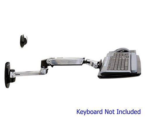 Ergotron LX Wall Mount Keyboard Arm - keyboard/mouse arm mount tray by Ergotron