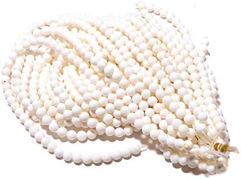 LOVEKUSH cuentas raras 10 hebras al por mayor de coral blanco cuentas redondas, perlas de coral, cuentas redondas de 8 mm, collar de coral blanco, 15 pulgadas cada Code-RM888