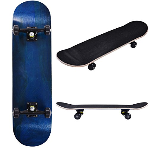 Blank Complete Skateboard Stained BLUE 7.75'' Skateboards,Blue Ready to ride by patcharaporn